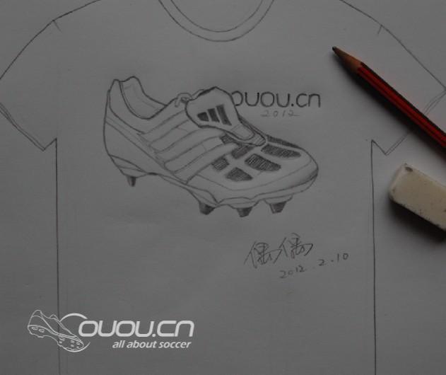 素描图 经典战靴版2012偶偶纪念T恤 你想画上哪双