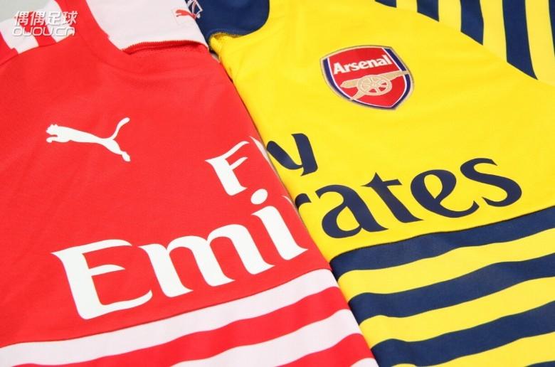 puma阿森纳授权英超赛前热身短袖球衣