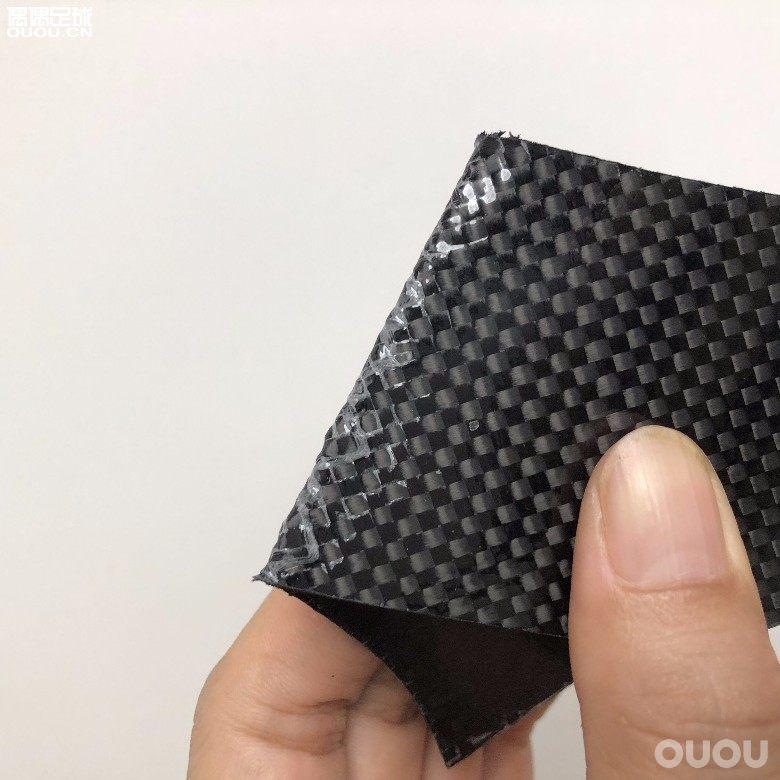 碳纤维中底不会断,对折也只裂不断不会割伤,因为有加···