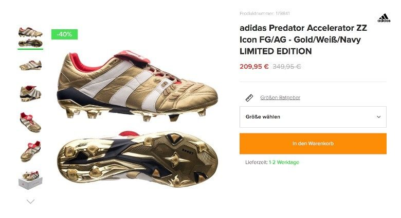 adidas Predator Accelerator ZZ Icon FG 猎鹰复刻